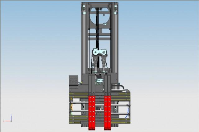 Front cylinder mast
