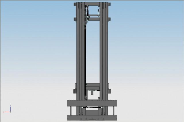 Fixed overlapped mast