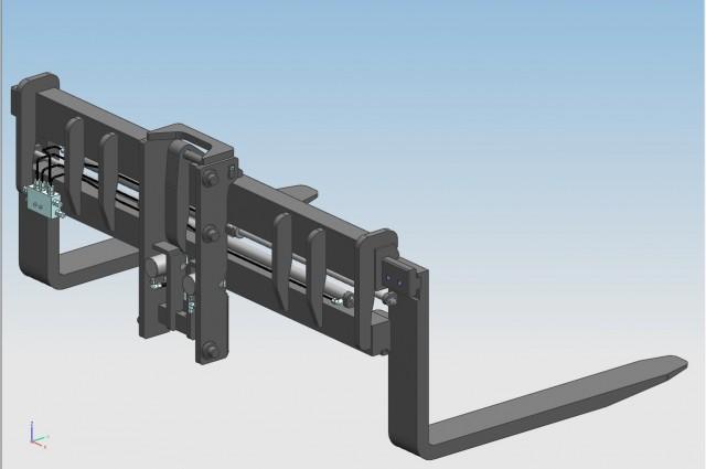 Tilting fork positioner