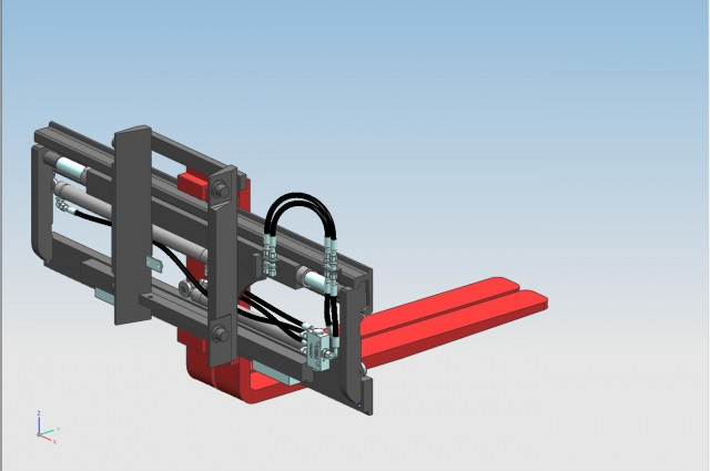 FEM2 side-shifter and fork positioner