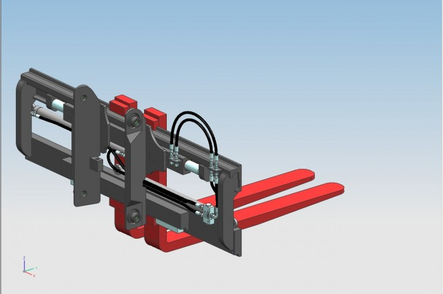FEM3 side-shifter and fork positioner