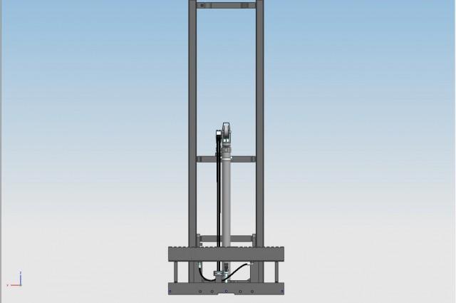 Centre cylinder mono mast