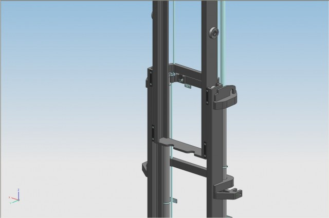 Fixed overlapped mast with tensors