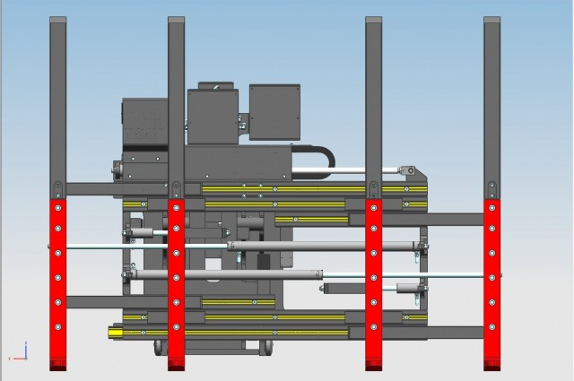 Single multipallet with double side-shifting + double fork positioning