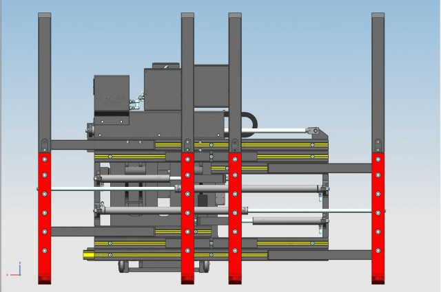 Single multipallet with double side-shifting + single fork positioning