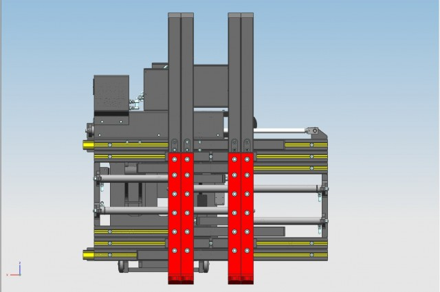 Single multipallet with double side-shifting