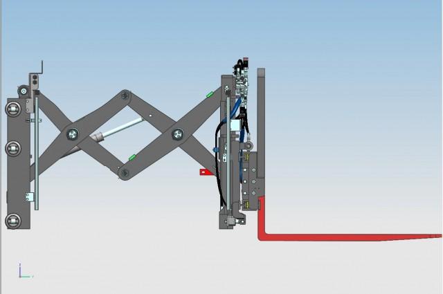 Double pantograph - open