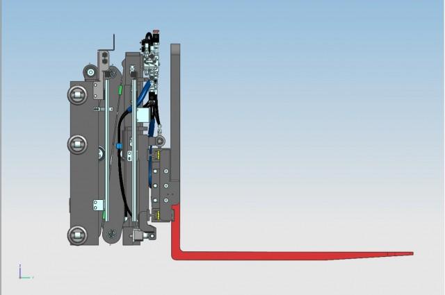 Double pantograph - closed